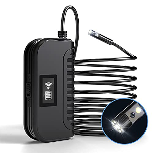 WXJWPZ 5M8mm HD Dual Lens Endoskope drahtlose Borescope Autoreparatur, Rohr Fix Inspektion IP67 wasserdichte Kabel-Kamera für Android, iOS, PC