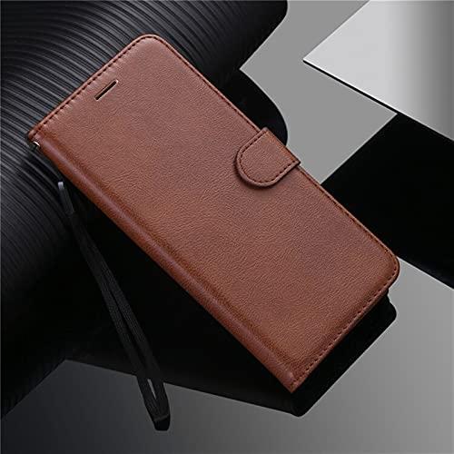 kuaijiexiaopu Fundas Para LG G7 G8S Thinq G9 Q6 V40 V50 V60, cubierta de la cartera de cuero de lujo Flip Stand Cover para LG W30 Stylo 6 x Power 2 3 ( Color : Marrón , Material : For LG X Power )