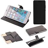 K-S-Trade® Handy Schutz Hülle Für Sharp Aquos D10 Flip Cover Handy Wallet Case Slim Bookstyle Schwarz