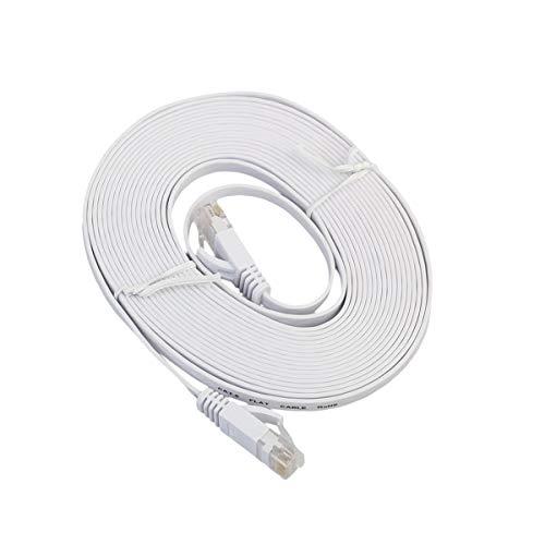 healthwen Cable Ethernet Cable LAN de Red Ethernet Plano CAT6e de Alta Velocidad para Oficina en casa
