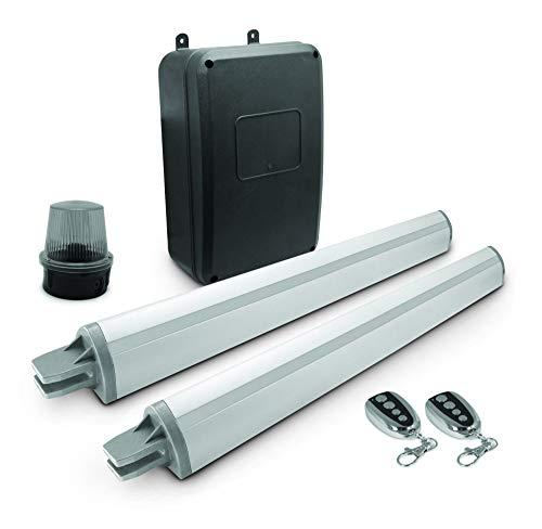 Avidsen - Motorisation Automatique pour Portail à 2 battants/ouvrants (Bois, Fer, alu ou PVC) - V350 - pour Portail ajouré ou Semi-ajouré de 300Kg Max et 3,5m Max