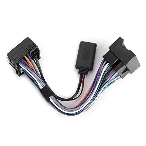Qiilu Auto-Aux-Kabelbaum, Netzteil + Bluetooth-MP3-Funkmodul-Aux-Kabel Passend für CDC40 CD60 CD30