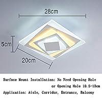 ポーチ アクリル Led 天井ランプ, モダン 廊下 シーリングライト ランプ フィクスチャ 24 W 表面実装 壁 シャンデリア の 通路 入り口 バルコニー-r 直径20cm