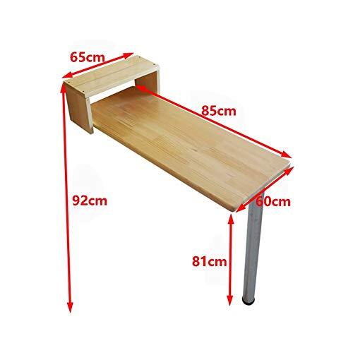 KXBYMX Table Pliante Simple Table de Bar Table Pliante, Table de Bar Petit Appartement américain, Table à Manger Couleur Bois, (Taille : 85 * 60cm)
