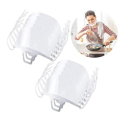 Mundschutz für Mundschutz, wiederverwendbar, transparent, unisex, Anti-Beschlag-Mundschutz, für Koch, Kunststoff, Schönheitssalon, Restaurant, Hotel, Barber und mehr, 10 Stück