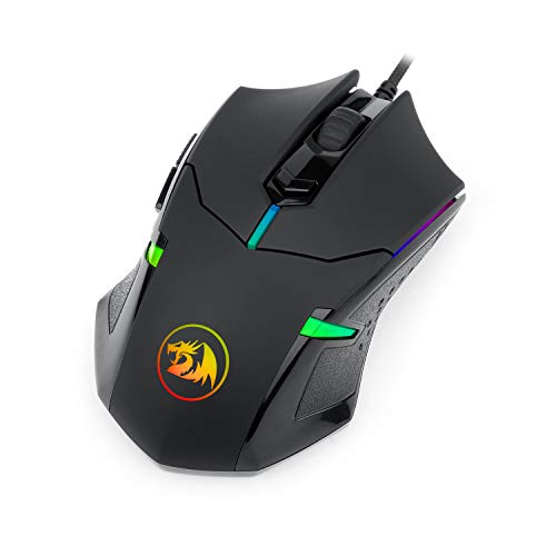 Redragon M601 RGB Gaming Mouse Backlit Wired Ergonomic 7 Button Programmable Mouse Centrophorus...