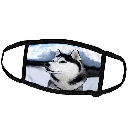 Promini Masque de Mois pour Chien Husky Sibérien Husky Sibérien - Masque de protection extérieur