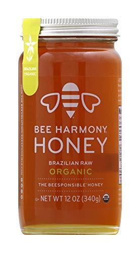 BEE HARMONY Organic Brazilian Raw Honey, 12 OZ