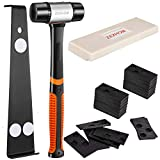 ZEXHOM Professional Laminate Wood Flooring Installation Kit with Solid Long Tapping Block, Widen Pull Bar, Reinforced Double-Faced Mallet and 40 Spacers