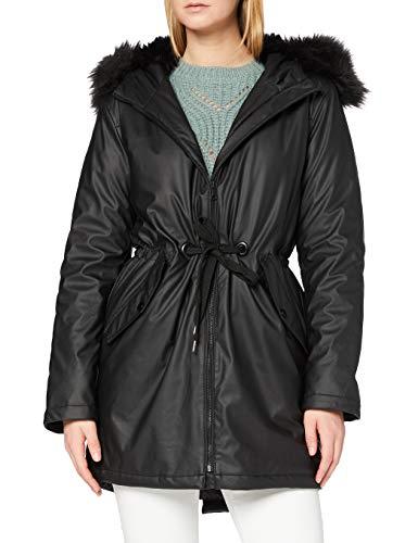Mavi Damen Hooded Parka, Schwarz (Black 900), Large