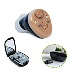 1* RECHARGEABLE - 4 hours for fully charge and lasts for 2 days. Thus you could say goodbye to the disposable batteries. 2* READY-TO-WEAR - A practically invisible natural hearing experience. On/off button which is rare to see in the design of hearin...