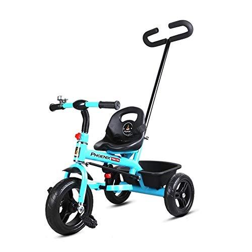 GYF Triciclo For Niños De 1-6 Años De Edad En Bicicleta Al Aire Libre con Campana De Mano del Bebé Retro 2 Colores Triciclo Triciclo Mano del Bebé (Color : Pink)
