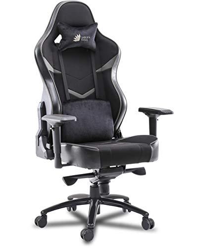 Green Soul Monster Ultimate Series (T) Multi-Functional Ergonomic Gaming Chair (Black & Grey)(Size - Large)