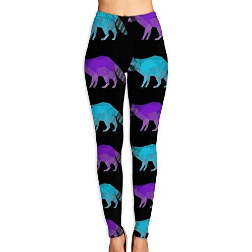 VAICR NCRSPIC Leggings medias deportivas,Personalized Geometric Triangle Raccoon Women's Printed Leggings Pants For Sports Yoga Workout Gym Running