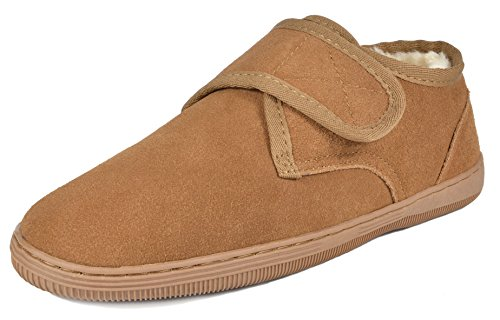 Image of the DREAM PAIRS Men's Fur-Loafer-03 Tan Suede Slippers Loafers Shoes Size 13 M US