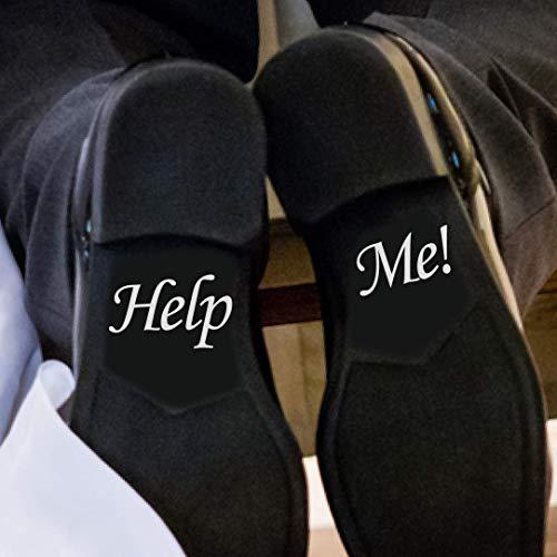LondonDecal Help ME - Adesivo rimovibile per scarpe da sposa