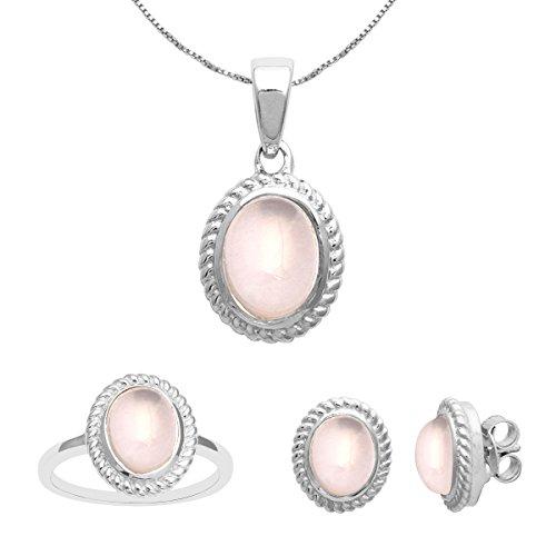 Shine Jewel Anillo de bodas, pendientes, collar, colgante y conjunto de joyas de plata esterlina 925 con múltiples piedras preciosas para mujer