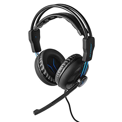 MEDION ERAZER Mage P10 Gaming Headset (Kabelgebunden, integriertes Mikrofon, Lautstärkeregler und Stummschalter, Over Ear, 3,5 mm)