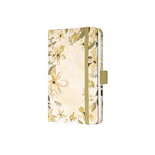 SIGEL JN336 Jolie libreta de notas - Loose Florals Olive - a líneas - 9,5 x 15 cm - hardcover - 174 páginas - oliva
