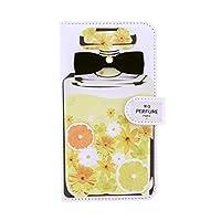 Xperia 8 SOV42 (+) エクスぺリア アンドロイド スマホケース手帳型 全機種対応 携帯ケース 手帳型[カード収納/スタンド機能/全面保護/耐衝撃]プレゼント 人気 おしゃれ かわいい 香水デザイン リボン diary-perfume (NEW M.パヒュームレモン)