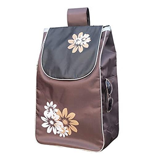 WYZXR Einkaufswagen Ersatztasche Einkaufswagentasche mit Seitentaschen Ersatztasche für Trolley, wasserdichte Oxford Tuch Aufbewahrungstasche (Größe: 34 x 19 x 56cm) 36L (Color : A)