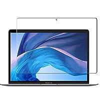 Vikisda MacBook Air 2018用 強化ガラスフィルム 国産ガラス素材 液晶保護フィルム高透過率 耐指紋 撥油性 気泡レス飛散防止 表面硬度9H 2.5D ウンドエッジ加工 2018年モデル MacBook Air 2018 液晶保護フィルム MacBook Air 2018 13.3 インチ フィルム
