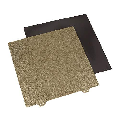 220mm 3D Printer Hotbed Accessoires Dubbele Laag Textuur PEI Poeder Staal Plaat + Magnetische Sticker B Oppervlak voor Anet A8 A6 Wanhao I3 Creality Ender 5 XY-2 3D printers, als reserveonderdelen verbruiksartikelen