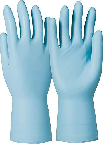 KCL Dermatril P743 Einwegschutzhandschuh Nitril, Aql < 0, 65 Level 3, puderfrei, Blau, Lange Stulpe Box/50Stk. VE/10Boxen, Gr. M