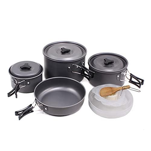 Utensilios de cocina de camping Suministros al aire libre 4-5 personas Combo de picnic Conjunto de utensilios de cocina Camping portátil Camping Cacahuete conjunto de cocina de camping ( Color : B )
