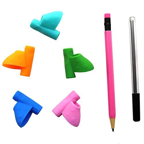 reggi matita penna per bambini, aiuto scrittura, impugnatura, correzione della postura multicolor(6 pacchi)