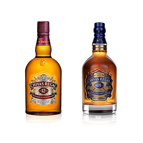 Chivas Regal Scotch Whisky Doppelset 12 Jahre + 18 Jahre, Whiskey, Alkohol, 2 x 700 ml