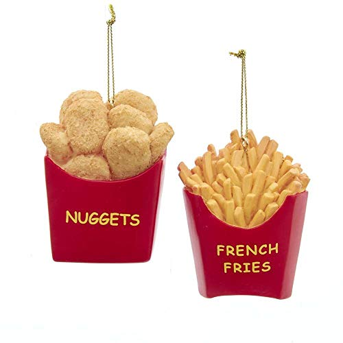 The Bridge Collection French Fries & Chicken Nuggets Novelty Ornaments, Set of 2