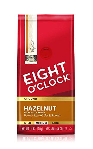 Eight O'Clock Coffee Hazelnut, Medium Roast, Ground Coffee, 11 Ounce (Pack of 6), 100% Arabica, Kosher Certified