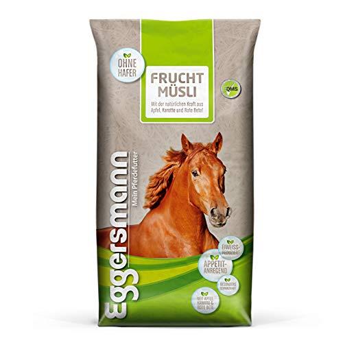 Eggersmann Frucht Müsli – Eiweißreduziertes Pferdemüsli – Zusatzfutter mit hohem Gehalt an Fruchttrestern – 20 kg Sack