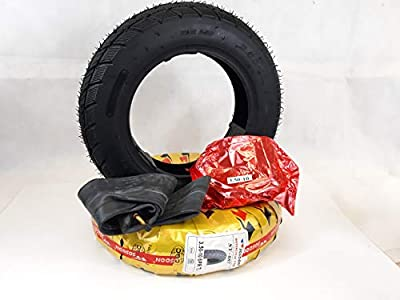Pair of 3.50-10 Black Mobility Scooter Tyres & Tubes, (6PLY) TGA Breeze S3-S4