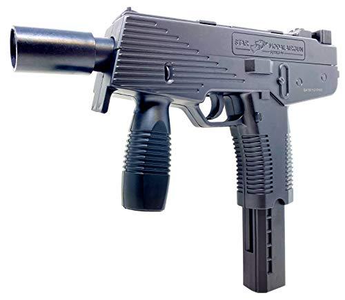 Seilershop Softair Pistole Uzi Maschine Gun KidsToy Federdruck 25cm 0,5 Joule