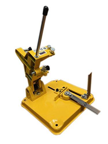 Kippen 4090A Soporte para amoladora angular, amarillo, 25 x 25 x 40 cm