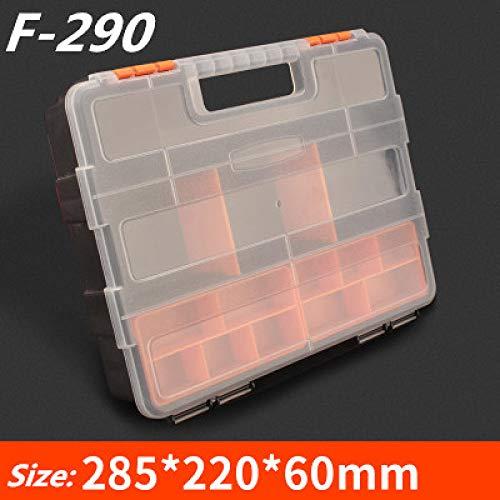 Gereedschapskist LKU Slot schroevendraaier kunststof schroef gereedschap opbergdoos hardware accessoires gereedschapskist autoreparatie, F290