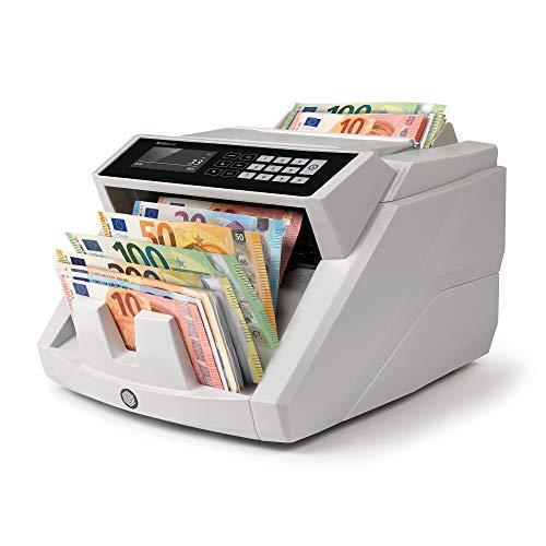 Safescan 2465-S - Contadora totalizadora de billetes, Cuenta billetes de euro mezclados, Detección 7 puntos, Certificada 100%