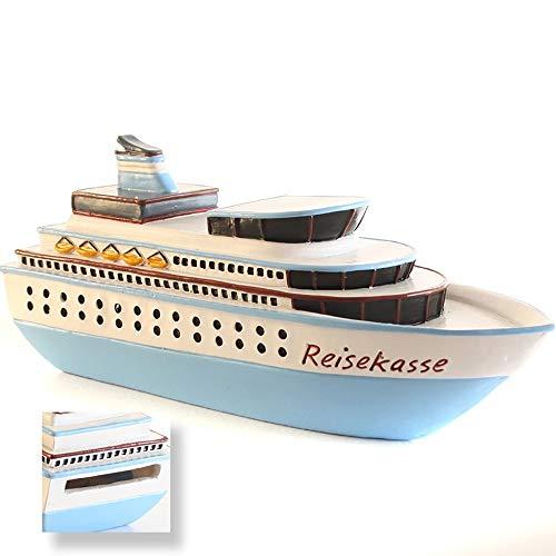 Spardose Kreuzfahrtschiff L 15,5 cm Sparbüchse Sparkasse Reisekasse