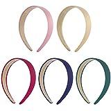 Frcolor 5 paquetes de banda ancha banda de pelo duro 3 pulgadas para las mujeres y las niñas