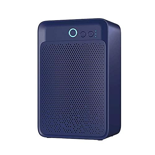 HYYYH Deshumidificador Ultra silencioso Mini deshumidificador de Aire portátil para Humedad para en casa, Cocina, Dormitorio, baño, Armario (Color : Blue, Size : 260 * 170 * 100mm)