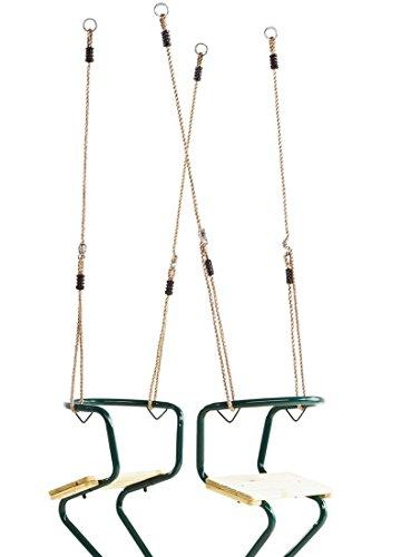 Doppelschaukel Flex Schiffschaukel Schaukel Zweisitzerschaukel Gondelschaukel Farbe: Grün