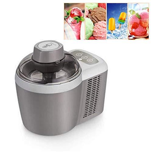 Máquina automática para hacer helados, máquina de yogur de frutas con sorbete inteligente para el hogar, temporizador de cuenta regresiva, revestimiento de acero inoxidable para refrigerios en casa
