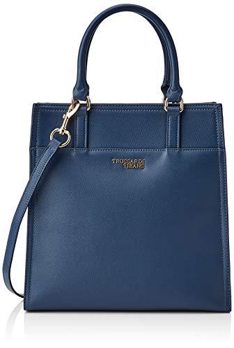 Trussardi Jeans T-Easy Light Tote, Borsa Donna, Blu (Dark Blue), 31x30x12 cm (W x H x L)