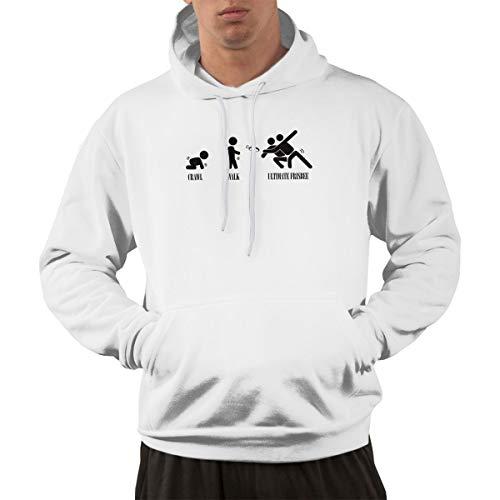 Blacaboer Shop Crawl. Walk. Ultimate Frisbee Men's Hoodie Hoodie Jacket Hoody Pullovers Sweatshirt Fleeces Costume White 3XL