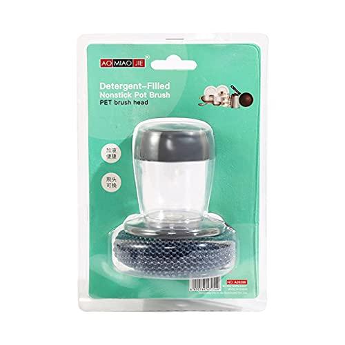 HUIJUAN Cepillo de alambre de acero portátil para ollas y cuencos para cocina, utensilios de limpieza multifuncionales