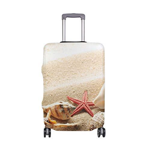 Ajinga Schutzhülle für Reisegepäck mit Muscheln und Seestern, Größe XL, 73,7-81,3 cm