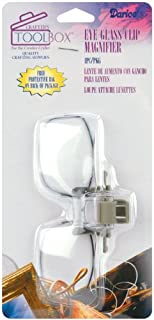 Darice 1172-66 Eye Glass Clip Magnifier with 2X Magnification