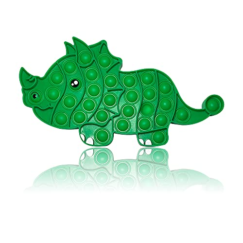 PIANETA Fidget Toy Pop it Push it, pop Bubble, endspannentes Anti Stress Spielzeug Sensorisches Spielzeug Autismus lindert Angstzustände. Für Kinder und Erwachsene (Dino)